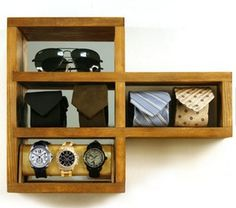 Frank - Manity by Kahokia Design, Brooklyn, NY #ny #shelving #brooklyn #storage #design #wood #mirror #women #men #nyc #watchlog #shelf #watches #manity