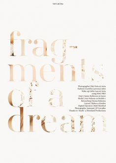 Fragments of a Dream | Volt Café | by Volt Magazine #beauty #design #graphic #volt #photography #art #fashion #layout #magazine #typography