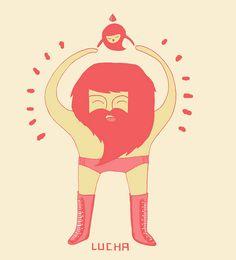 Lucha by Regi Rivas #lucha #wrestler #hola #chica