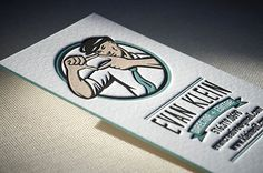 Vintage letterpress business card | Elegante Press