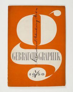 endilletante:Cover of Gebrauchsgraphik by Heinz Hadem, 1950 by Herb Lubalin Study Center on Flickr. #design #magazine #gebrauchsgraphik #nov