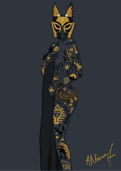 Late Night Egyptian Tales Ep.1 : Anubis on Behance #sexy #egypt #design #anubis #mythology #illustration #egyptian #art #jackal