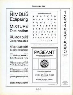 Gothic No. 544 originated at MacKellar, Smiths and Jordan circa 1889. #type #specimen #typography
