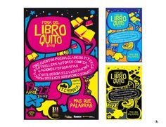 Feria del libro 2008 on the Behance Network #alejoiscool #typography #quito #poster #alektro #ecuador