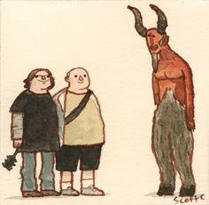GREAT SHOWDOWNS by scott c. #illustration #scott campbell #scott c #the great showdowns