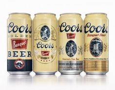 Coors Banquet Heritage Cans #beer #can #label #packaging