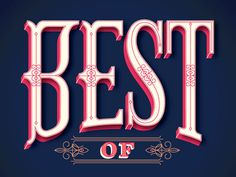 Best of... #typography #serif #pink #navy