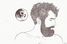 cetus #illustration #beard #toma #evsuvdo