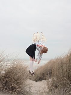 Maia Flore | iGNANT #girl #sailor #stripes #ship #beach