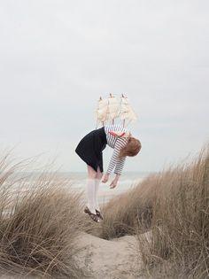 Maia Flore | iGNANT #girl #sailor #stripes #ship #beach