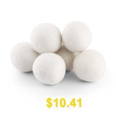 COZZINE #2.8 #Inches #Wool #Dryer #Ball #Set #of #6 #- #BEIGE