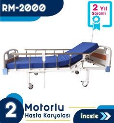 2 Motorlu Abs Başlıklı Hasta Karyolası