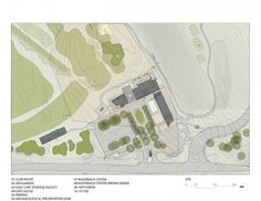 Architecture Photography: Blessings Golf Clubhouse and Guardhouse / Marlon Blackwell Architect - site plan (107588) – ArchDaily #plan #site #illustration #architecture #rendered