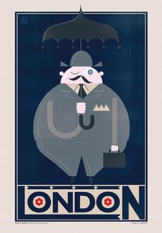 Expedia Travel Posters #fat #umbrella #london #rain #poster #man