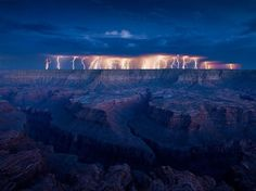 A thunderstorm in the Grand Canyon - Wall to Watch #grand #electricity #thunderstorm #photography #storm #lightning #canyon