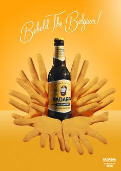 #yellow #bottle #beer #retro #typography #lettering #kadabra #hands