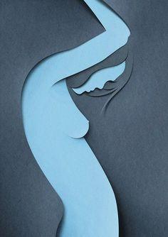 Eiko Ojala » Naked #cut #paper #art #nude