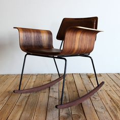Molded plywood rocker #wood #design #chair #modern