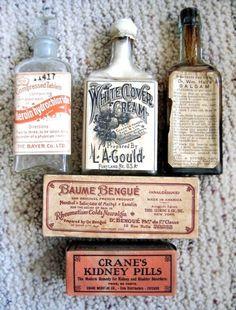 Vintage Pharmacy Bottles #vintage #bottles #pharmacy