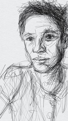 self #drawing #self portrait