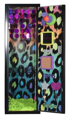 80′s Locker Decor #design #makeup #decor #locker #decoration