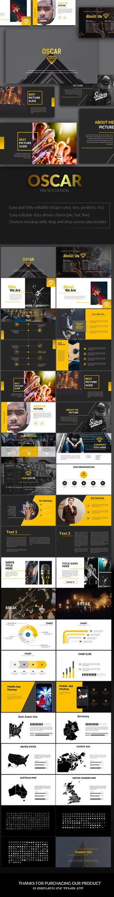Oscar Powerpoint Template - graphicriver.net Item for Sale