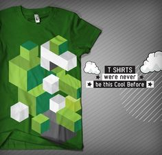 T Shirts were never be this Cool Before!!! on the Behance Network #cubes #pakistan #shapes #shirt #illustration #cubism #fashion