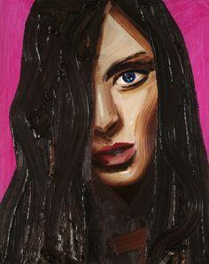 Look - Erik Olson #painting #colour #girl #oil