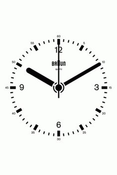 Braun Clock GIF by Dieter Rams, Dietrich Lubs | Daily Icon