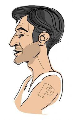 Specialmagazin #illustration #portrait #tattoo #man #face #profile #character