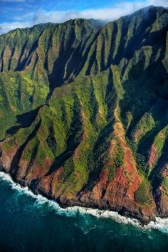 Na Pali Coast aerial - Kauai, Hawaii | Flickr - Photo Sharing! #green #color #valley #landscape
