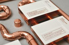 motiv studio design agency branding modern copper business card painted edges design inspiration designblog inspiration www.mindsparklemag.c