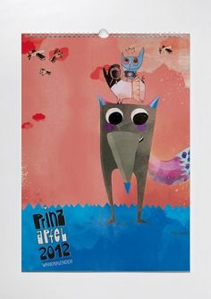 prinzapfel - Wandkalender #calendar #design #prinz #illustration #apfel #character