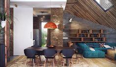 Loft-Inspired Residence By Uglyanitsa Alexander #interior #design #home #exterior