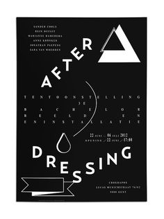 After DressingExhibition Poster #poster #typography