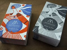 My new letterpress cards | Flickr - Photo Sharing! #business #card #print #letterpress #illustration #stationery