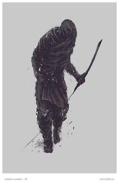 shadowwarrior.jpg 510×795 pixels #shadow #gosa #worrier