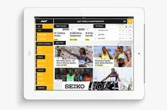 International association of athletics federations | Phileman Agence de communication et de design Nantes / Lorient #ux #ipad #design #interface #ui #tablet #app
