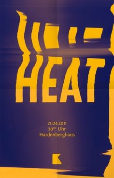Baubauhaus. #yellow #heat #poster #blue #typo