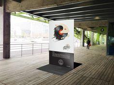 """Signage """"totem"""" artwork by Dezzig at Cité de la Mode et du Desig - Paris #totem #visual #design #graphic #artcrank #poster #art #signage"""
