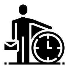 See more icon inspiration related to portfolio, time, time and date, business and finance, time passing, time management, humanpictos, leadership, stick man, worker, hurry, businessman, manager, management, briefcase, business, person and people on Flaticon.