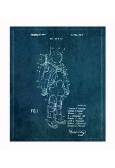Vintage Patent Application Posters #astro