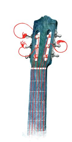 Design Work Life » Illustration work by Raquel Aparicio #guitar #illustration