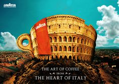 Lavazza The art of coffee from the heart of Italy #adverts #italy #art #lavazza