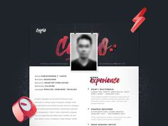 Single Page Resume - Free Single Page Resume Template in PSD Format
