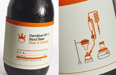 Demijhon Beer #beer #bottle #packaging #icon #label