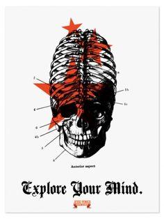 www.jessepenico.com #print #design #explore #poster #skull #bones