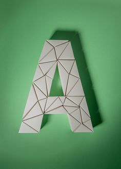 ABC by Henrik Grill #typography #color #paper #design