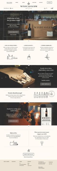 Winecast redesign on Behance #wineshop #web #winecast #wine