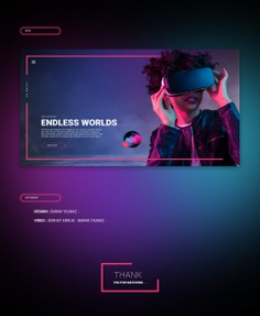VR Ready Web Template on Behance